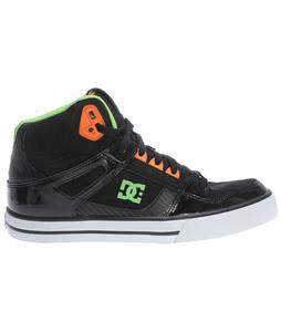 DC Spartan HI WC Skate Shoes Orange/Soft Lime