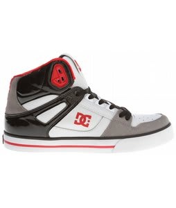 DC Spartan HI WC Skate Shoes White/Grey/Red