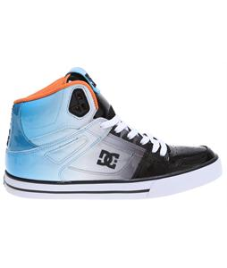 DC Spartan Hi WC SE Skate Shoes Black/Turquoise Enamel