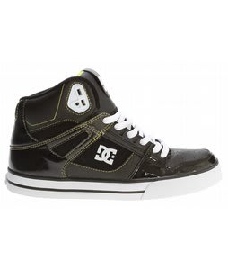 DC Spartan Hi WC Skate Shoes Black/White/Yellow