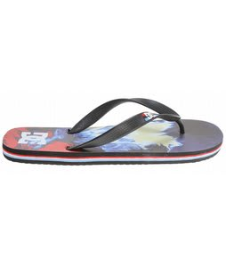 DC Spray Graffik Sandals Black/Bright Royal