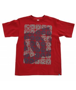 DC Square Up T-Shirt Deep Red