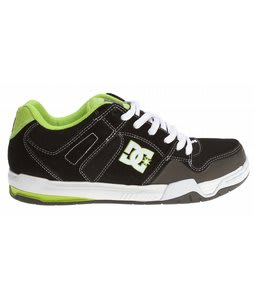 DC Stack Skate Shoes Black/Soft Lime