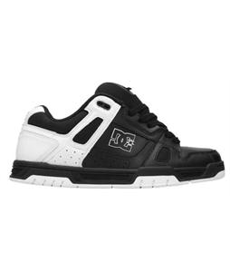 DC Stag Skate Shoes Black/Black/White