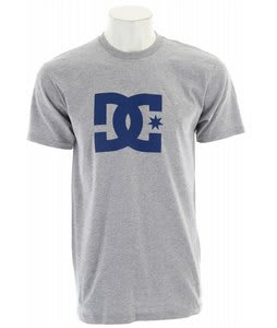 DC Star T-Shirt Heather Grey/Blue Logo