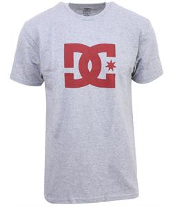 DC Star T-Shirt Heather Grey/Red Logo
