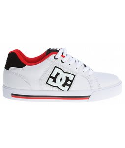 DC Stock Skate Shoes White/Red