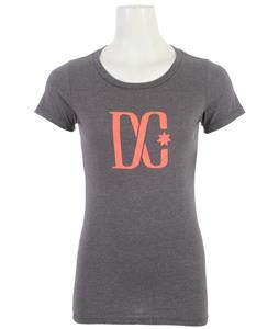 DC Tstar C T-Shirt Heather Dark Shadow/Coral