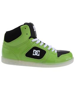 DC Union High SE Shoes Soft Lime/White