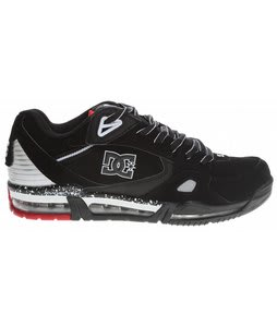 DC Versaflex Skate Shoes Black/White/Athletic Red