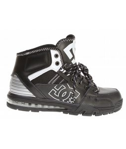DC Versatile HI WR Shoes Black/White/Metallic Silver