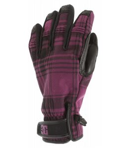 DC Warner Gloves Dark Purple/Black