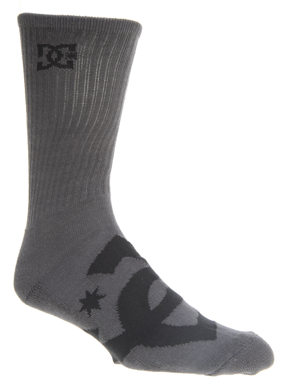 Shop for DC Willis Ii Socks Grey/Black - Men's
