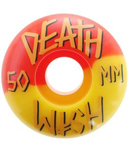 Deathwish Stacked 50/50 Skateboard Wheels Yellow/Red 50mm