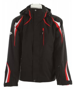 Descente Course Ski Jacket Black/Ruby/Super White