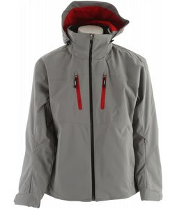 Descente Guide Ski Jacket Grey Silver/Ruby