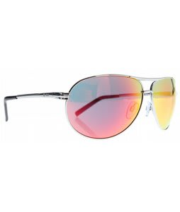 Dot Dash Buford T Sunglasses Silver/Red Chrome Lens