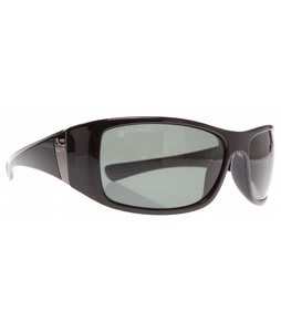 Dot Dash Convex Sunglasses Black/Grey Polarized Lens