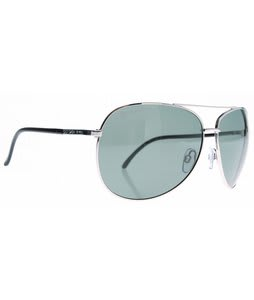 Dot Dash Nookie Sunglasses Silver Gloss/Grey Polarized Lens