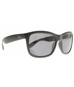 Dot Dash Poseur Sunglasses Black Satin/Grey Lens