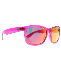 Dot Dash Poseur Sunglasses Pink Translucent/Red Chrome Lens