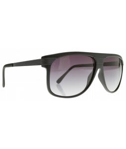 Dot Dash Zealot Sunglasses Black Satin/Gradient Lens