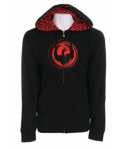 Dragon Stripped Zip Hoodie Black
