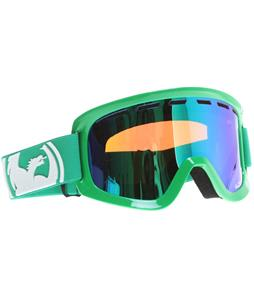 Dragon D1 Goggles Solid Green/Green Ionized + Amber Lens