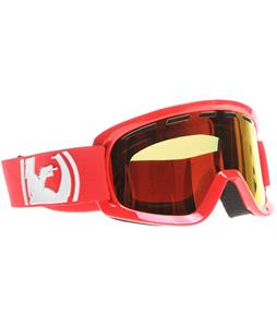 Dragon D2 Goggles Solid Red/Red Ionized + Amber Lens