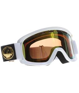 Dragon D2 Goggles White/Gold Ionized + Amber Lens