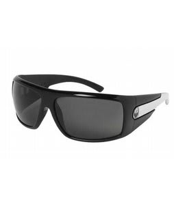 Dragon Shield Sunglasses Jet White/Grey Lens