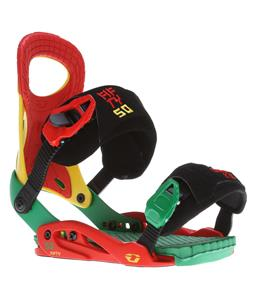 Drake Fifty Snowboard Bindings Rasta