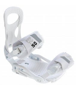 Drake Fifty Snowboard Bindings White