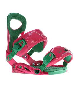 Drake Fifty Lobster Snowboard Bindings Fuschia/Green