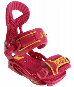 Drake Jade Snowboard Bindings Raspberry