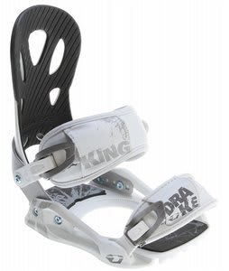 Drake King Snowboard Bindings White