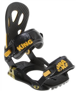 Drake King Snowboard Bindings Yellow