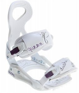 Drake Queen Snowboard Bindings White