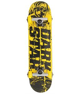 Darkstar Splatter Mid FP Skateboard Complete Yellow 7.3in