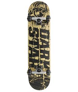 Darkstar Splatter FP Skateboard Complete Gold 7.6in