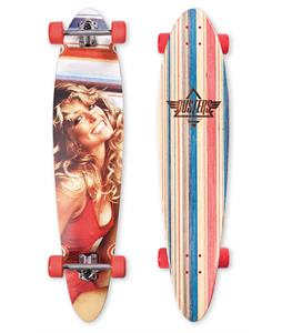 Dusters Farrah Fawcett Longboard Complete Red 40 x 9in