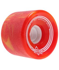 Dusters Spin Softie Longboard Wheels Red/Yellow 65mm