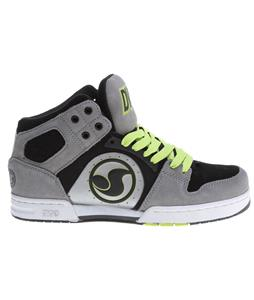 DVS Aces High Skate Shoes Grey Action Leather