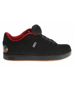 DVS Charge Skate Shoes Black Rasta Nubuck