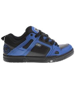 DVS Comanche Skate Shoes Black/Blue Leather