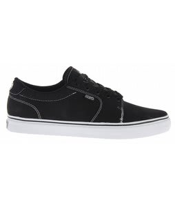 DVS Convict Skate Shoes Black/White Canvas
