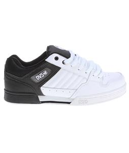 DVS Durham Skate Shoes Black/White Action Leather