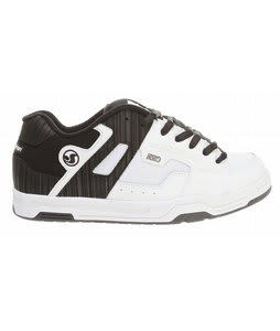 DVS Enduro Skate Shoes White/Black Leather