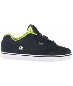 DVS Getz5 Skate Shoes Navy/Lime Suede