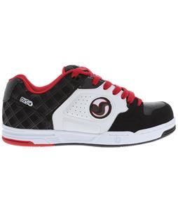 DVS Havoc Skate Shoes Black/Red Leather